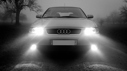 Fog and car