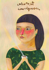 Cabernet Sauvignon (jazmin varela ilustracion) Tags: portrait illustration wine retrato retratos illustrator vino ilustracion vinos varela wines jazmin varietales