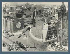 Mersey Tunnel New Quay Entrance, Liverpool. 1940s? (philipgmayer) Tags: merseytunnel newquayentrance oldhallstreet demolished 1000 2000