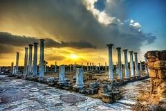 Salamis Ancient City, North Cyprus (Nejdet Duzen) Tags: trip travel cloud sun island ada ruin harabe bulut gne coloumn northcyprus salamis seyahat ancientcity kktc stun kuzeykbrstrkcumhuriyeti antikkent