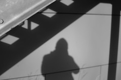 Selfie (Triniciusverus) Tags: selfportrait building metal architecture 35mm blackwhite nikon metallic structures geometrical nikkor 18 selfie husum d90 architecturalstructures nikonflickraward