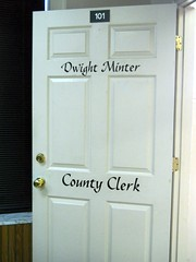 281/365:  County Clerk (MountainEagleCrafter) Tags: door sign government lettering calligraphy day281 top20doors apicaday 10813 281365 shootfirstaskquestionslater day281365 3652013 2013yip 365the2013edition pad2013365 10082013 2013internationalbeauty 08oct13