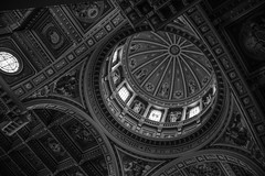 Saint Anthonys Cathedral #1 (Claudio Beck) Tags: roof blackandwhite bw church brasil cathedral beck interior sony indoor paulo claudio so saintanthony santoantonio ilce3000