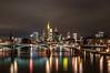 Frankfurt Skyline (Nihil Baxter007) Tags: city bridge sky tower fog skyline night river lights office nebel hessen nacht frankfurt main himmel stadt brücke fluss turm büro spiegelung lichter commerzbank langzeitbelichtung hessian mainkai