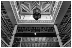 Hotel Floor (Ouarzazate) (toletoletole (www.levold.de/photosphere)) Tags: roof lamp architecture hotel lampe floor ornaments architektur dach flur ornamentik