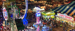 Kauai County Fair from the Ferris Wheel (Emily Miller Kauai) Tags: county panorama night crowd fair kauai fireball