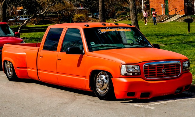 orange truck pickup cadillac chevy gmc marc714