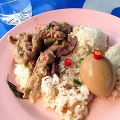 แกงเขียวหวานไก่กับไข่พะโล้ราดข้าว | Green Chicken Curry And Stewed Egg On Rice @ ครัวบุปผา | Krua Buppa