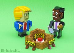 Intervention (trump and Obama) (Bricksky) Tags: lego moc bricksky nuke button politics usa obama trump noredbutton