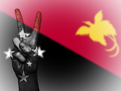 Peace Symbol with National Flag of Papua New Guinea (publicdomainphotography) Tags: nation background banner colors country ensign flag graphic icon illustration national state symbol tourism travelpeace hand sign victory two fingers human design blue white concept travel geography patriot culture gesture male art success positive gesturing person papua new guinea