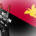 Peace Symbol with National Flag of Papua New Guinea