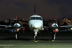 C90B (Antônio A. Huergo de Carvalho) Tags: beech beechcraft king air kingair c90 c90b prfsz nose facetoface aviation aircraft airplane aviação avião aviaçãogeral aviaçãoexecutiva pt6a propeller hélice