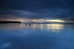 Fishermen - Lake Taupo  NZ (angus clyne) Tags: fishing trout sunset fly wade rain storm taupo river stream calm waitahanui afterthestorm clearingrain fishermen