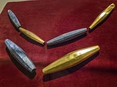 Gold and Lapis Lazuli Beads recovered from the royal cemetery of Ur, Iraq 2550-2450 BCE (mharrsch) Tags: bead necklace jewelry gold lapislazuli ur sumer mesopotamia iraq ancient gravegoods funerary archaeology 3rdmilleniumbce 26thcenturybce 25thcenturybce royal pennmuseum philadelphia pennsylvania mharrsch