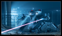 T2 Hunter Killer (lyncaudle) Tags: dallas forcedperspective hunterkillertank lyncaudle miniature model scifidallas t2 terminator visualeffects