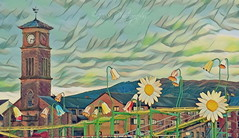 Spring is in the Air (Rollingstone1) Tags: helensburgh scotland spring clocktower tower clock time flowers buildings outdoor landscape hills colour art