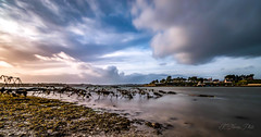Sunset on the strike of Rostellec (khan.Nirrep.Photo) Tags: bretagne breizh sunset longexposure presquile iroise rade brest océan bleu blue sky flickrunitedaward