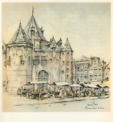 Anton Pieck- Bemin dan Amsterdam, 1948 ill  Nieuwmarkt waag (janwillemsen) Tags: antonpieck amsterdam bookillustration 19451948
