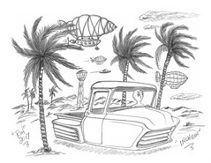 Incheon (rod1691) Tags: bw scifi alien grey concept custom car retro space hotrod drawing pencil original story fantasy funny automotive art illistration greyscale moonpie korea