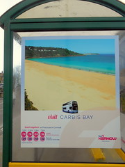 First Kernow Bus Shelter Advert (miledorcha) Tags: first kernow south west england cornwall group buses shelter stop advert vinyl local rural holidays tourist busstation promotion promotional material destination ticket information carbis bay stives visit travel travelbybus connections