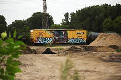 Wasp ? Paser (This Car Excess Height) Tags: wasp paser graffiti train railroad railcar art vandalism bench benching tbox fbox boxcar ttx mfk msk citi