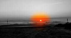 Black, White and Orange (Nigel Vaux) Tags: landscape sunrise nigelvaux canon550d morning misty april northdevon raw different mono bw