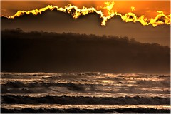 Moody Sea - Cloudy Bay (Trains In Tasmania) Tags: australia tasmania brunyisland cloudybay sunset sea waves latelighting backlighting backlit backlight mood ef35350mm13556lusm cloudybeaches translucent trainsintasmania stevebromley canoneos550d