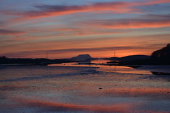 Sunset over Clew Bay, Westport, Co Mayo, Ireland. (westport 1946) Tags: ireland eire comayo connacht westport clewbay clareisland lowtide water wasser sea westportquay sunset reflections serene peaceful tranquil idyllic outdoor landscape seascape clouds sky ocean beach coast westportbay