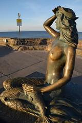 Portrait of mermaid (navarrodave80) Tags: mermaid sculpture ustka poland pier seabackground shine sunny street nikon d3300