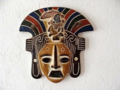 Dude with Hat (knightbefore_99) Tags: mask art pottery aztec native mexico mexican nayarit rincon guayabitos west coast cool decameron hat dude
