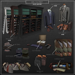 His Closet Gacha. (Gianni Broda/DAVID HEATHER) Tags: epiphany david heather mens closet