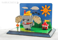 Dumbo & Timothy (dvdliu) Tags: lego moc brickheadz dumbo disney timothy crows blockhead