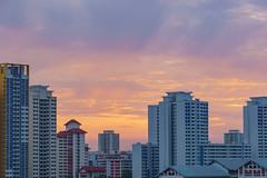 DSC01124-HDR_LR (teckhengwang) Tags: landscape sunrise sun sky singapore hdb