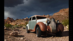 We Hoofed It From There (Whitney Lake) Tags: abandoned deserr nevada nelson eldorado ghosttown automobile car junk antique