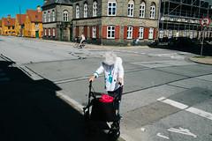 Copenhagen, Denmark 2016 (f.d. walker) Tags: copenhagen denmark europe lady woman women hair head grayhair old walker streetphotography street sunlight shadow sun strange surreal candidphotography candid color clothes colorphotography contrast colors city