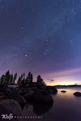 new moon (Aaron_Smith_Wolfe_Photography) Tags: laketahoe stars night sandharbor nevada sierra mountains mountain
