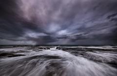 Seascapeology (Crouchy69) Tags: sunset dusk landscape seascape ocean sea water coast clouds sky rocks flow motion north narrabeen pool gorge sydney australia