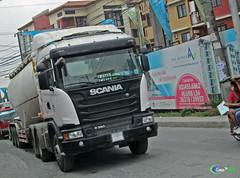 Scania G360 | GSDC (Next Base™) Tags: czeon santos scania g360 | gsdc truck manufacturer scaniaph bjm bj mercantile inc model g series normal sleeper cab chassis engine suspension axle configuration 6x4 trailer 3 cement powder tanker shot location sangandaan quezon city