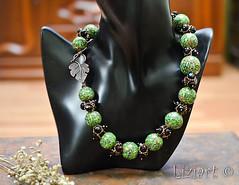 DSC_1018-18 (Liziart Alena) Tags: авторскиеукрашения натуральныекамни бусины хрусталя полимернаяглина фимо зеленый черная смородина бусы браслет комплектукрашений украшениенашею ручнаяработа green instagram jewelery fimo bracelet bijou
