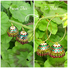 how to refashion your old jhumka earrings 9 (DIY Empress) Tags: diy earrings earringfashion fashion jhumka traditional ethnic beautiful tutorial howto blogger inspiration make diublogger diyjhumka girl girlboss happy colorful