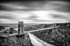 Clifton Suspension Bridge (~g@ry~ (clevedon-clarks)) Tags: clifton cliftonsuspensionbridge bristol bridge isambardkingdombrunel longexposure le mono blackwhite bw nikon uk thesouthwest blackandwhite monochrome outdoor water