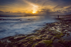 Splash (Juan Pablo J.) Tags: sunset sony sky sonya68 sundown seascape sun searocks seashore sand water waves longexposurephotography outdoors landscapes lights landscape
