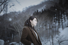 Snowy serene time (TAKAGI.yukimasa1) Tags: portrait woman people cute girl beauty female fineart canon eos 5dsr japanese asiangirl asian cool dark snow winter