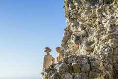 Castle Ruins (Èze, France) (peterwaller) Tags: èze france europe mediterranean lookout castle ruins statues maidens sunny