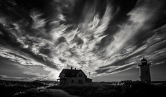 Cape Cod Lighthouse (Rodney Harvey) Tags: cape cod lighthouse race point atlantic ocean seashore lightkeeper house sunset infrared remote desolate beautiful isolation dunes sand