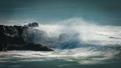 Black Rock & Wave (Charlie Day DaytimeStudios) Tags: beach california highway1 landscape ocean pacificcoast pacificcoasthighway sanmateocoast surf water