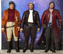 Three Space Rascals (ShellyS) Tags: hottoys starwars hansolo peterquill starlord malreynolds firefly qmx actionfigures