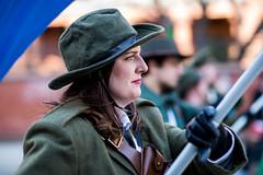 Irish Proud (hector_cbs) Tags: irish stpatricks woman proud flag bokeh people color stpatricksday street