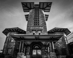 Ohio Central (tim.perdue) Tags: toledo ohio central station railroad building architecture pagoda art nouveau tower columbus downtown urban city broad street national register historic places nrhp black white bw monochrome