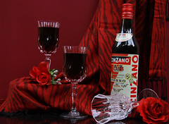 Power of Red (Chandana Witharanage) Tags: srilanka stilllife cinzanowine wine wineglasses red redroses tabletop arrangement crystal crystalglasses availablelight composition creativephotography
